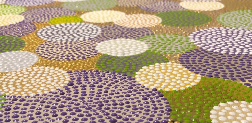 Detail dot painting Last Summer Day by Ibbel Dibbel