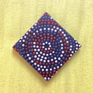 Purple circle • dot painting magnet • Ibbel Dibbel