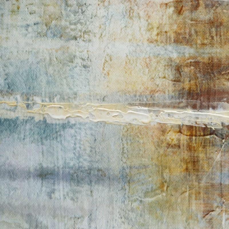 Cuadro arboleda color ocre y gris 60 x 90 cm para saln o