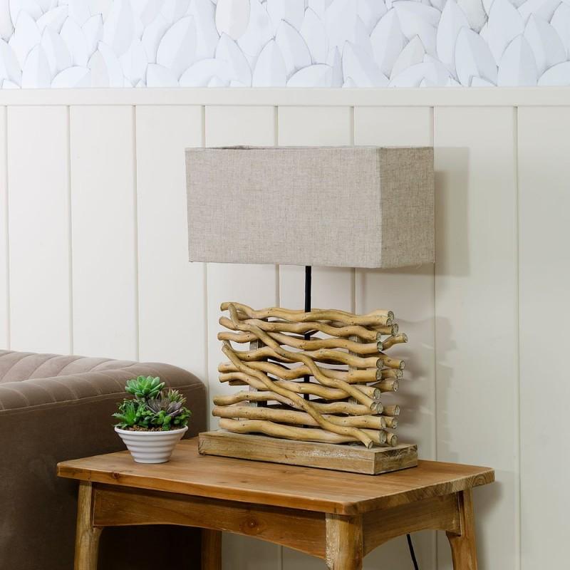 Lmpara mesa madera ozzak 52 cm  Ibele Home