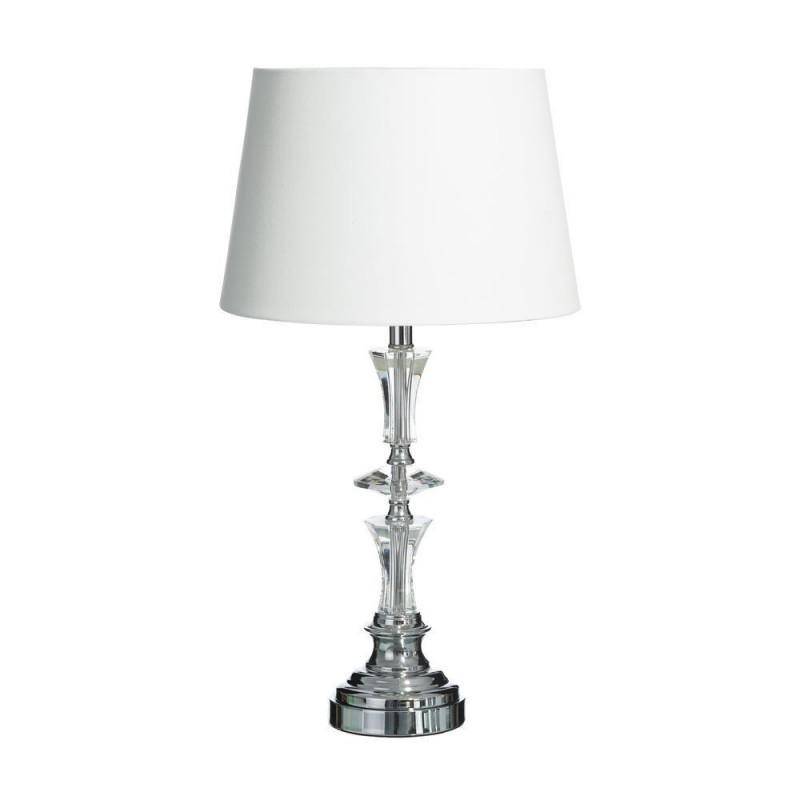Lmpara mesa cristal y lino 69 cm  Ibele Home