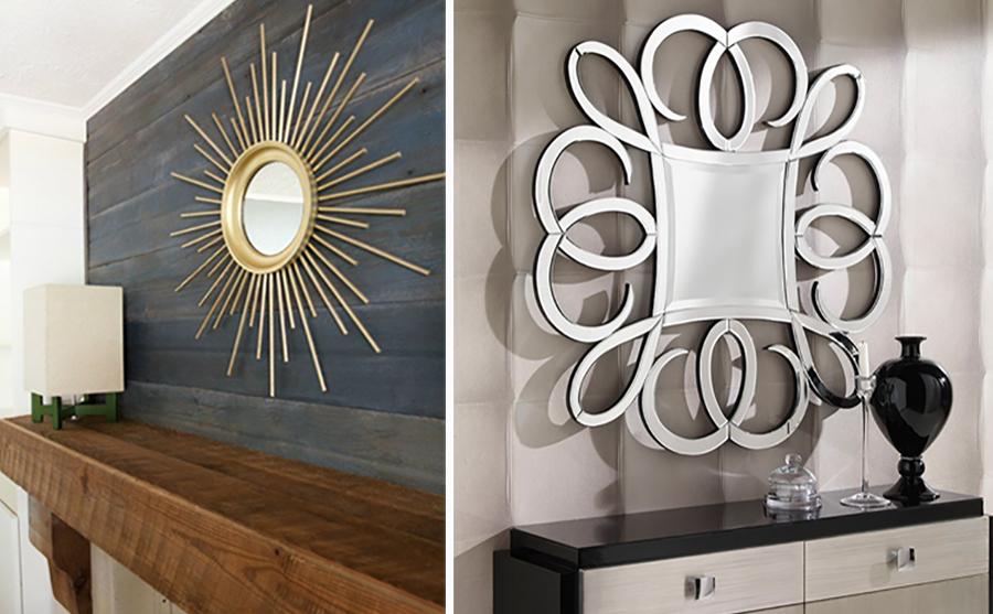 Ideas para decorar una pared - espejos