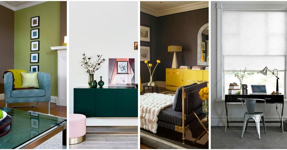 Regla 60-30-10: Combinaciones de color en salas de estar