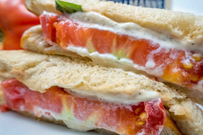 The milky goodness of a southern tomato sandwich