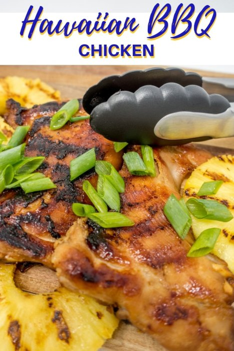 This fresh, sweet, and savory Hawaiian BBQ chicken dish is conveniently grilled on the stove