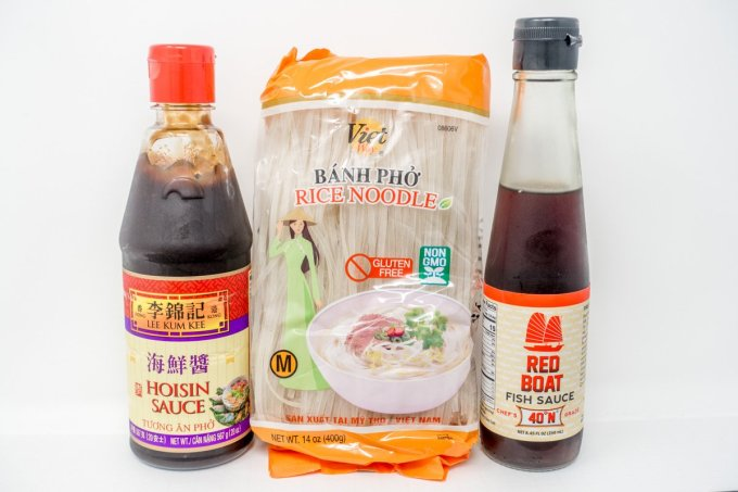 Selecting high quality ingredients like the right fish sauce, noodles, and hoisin will make your easy pho recipe even better