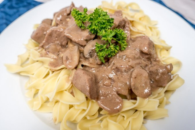 Making beef tips with gravy in the oven is an easy and delicious meal