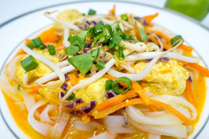 Thai curry noodles and chicken recipe