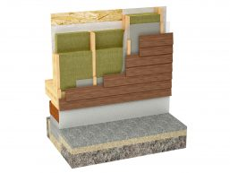 44803138 - wood framing house insulation isolated on white background