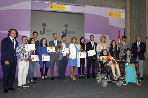 Báñez y Santamaría en la entrega de Premios Nacionales de Juventud (Foto: J. M. Cuadrado)
