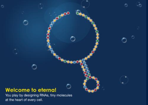 <p>El juego Eterna desafía a los participantes a diseñar secuencias químicas ARN que se plieguen de manera estable en las formas deseadas y cuenta con más de 100.000 jugadores registrados, la gran mayoría sin conocimientos de bioquímica. / Eterna</p>