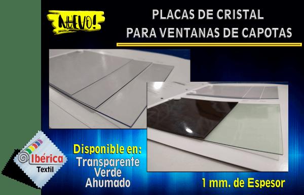 PLACAS DE CRISTAL PARA VENTANAS DE CAPOTAS