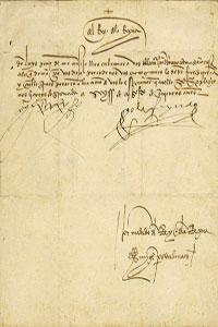 Los 10 libros más caros vendidos en IberLibro - Carta manuscrita y firmada por los Reyes Católicos