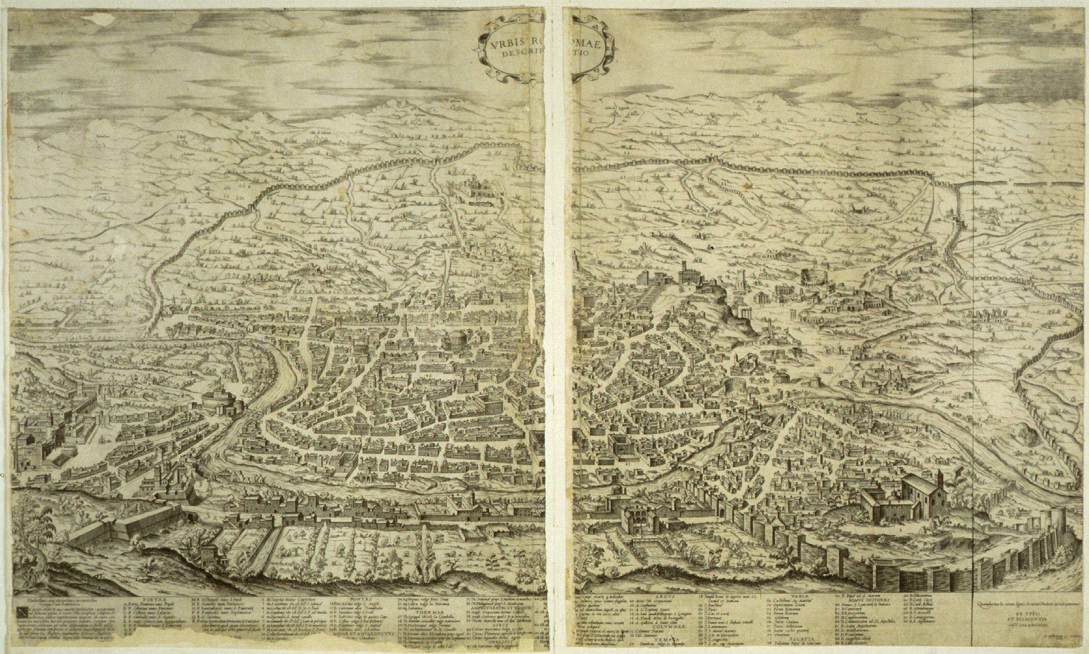 Ancient Rome Buildings Map