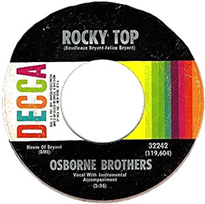 Image result for osborne brothers rocky top single images