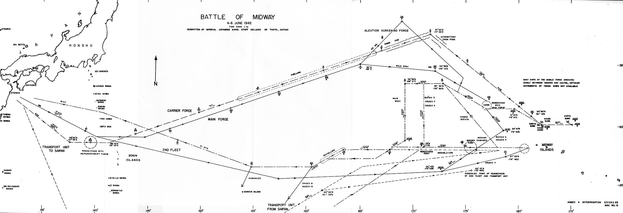 hight resolution of 13 1 track chart battle of midway 4 6 june 1942 facing p