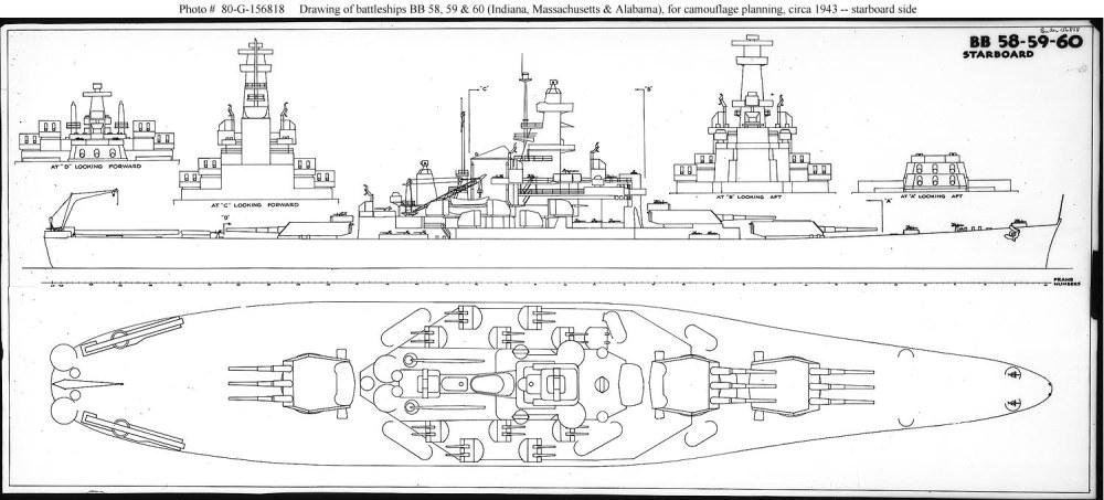 medium resolution of usn ship types south dakota class bb 57 through 60 naval battleship diagram