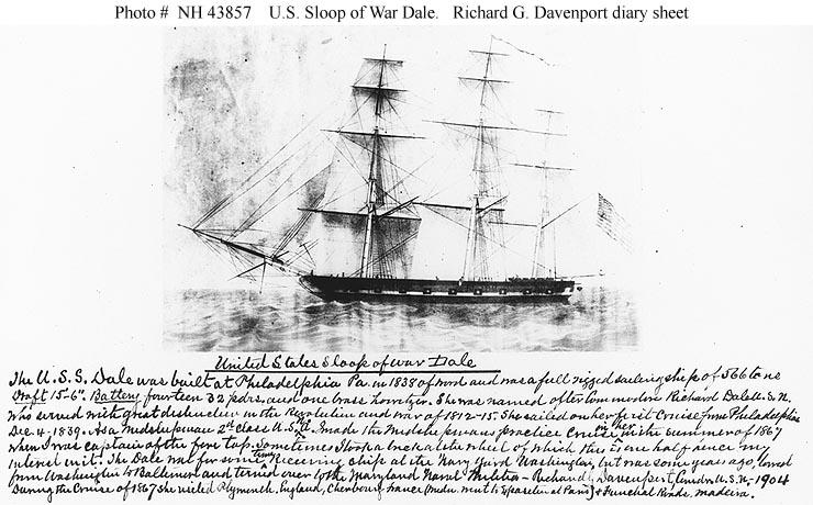 USN Ships--USS Dale (1840-1921)