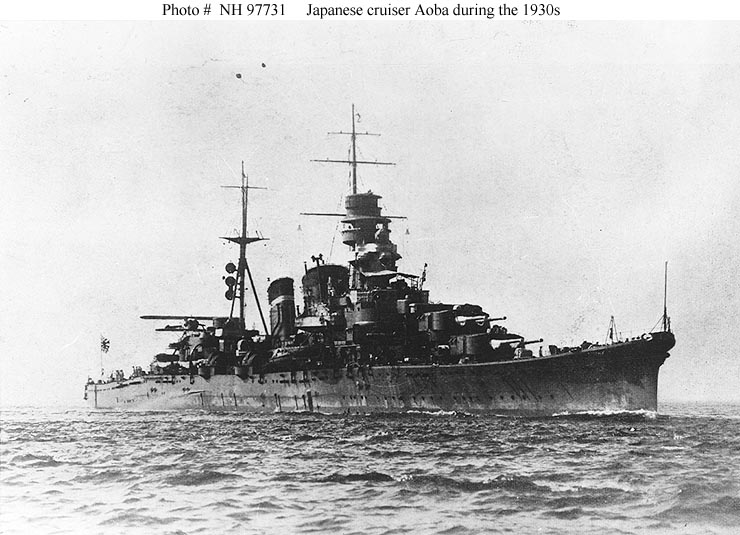 Japanese Navy Ships--Aoba (Cruiser, 1927)