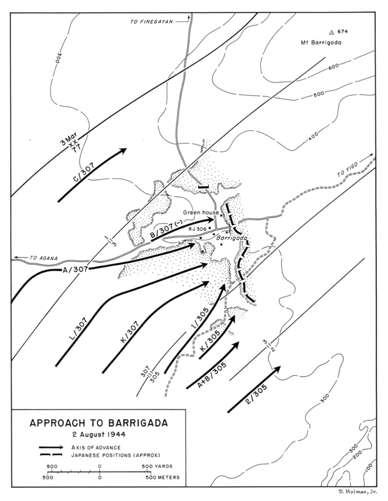 Approach to barrigada 2 august 1944