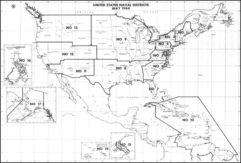HyperWar: U.S. Naval Districts-1944