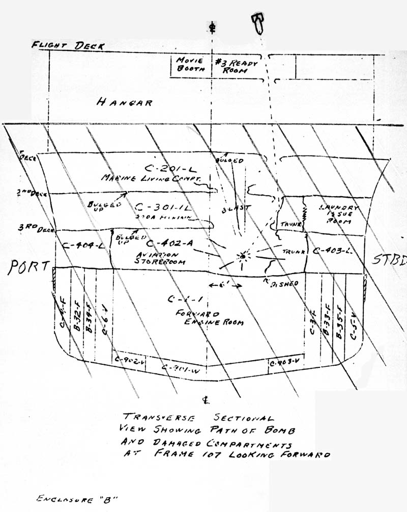 Transverse sectional view