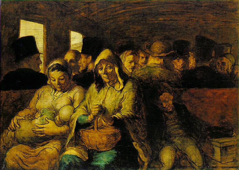 The Third Class Carriage by Daumier, 1865