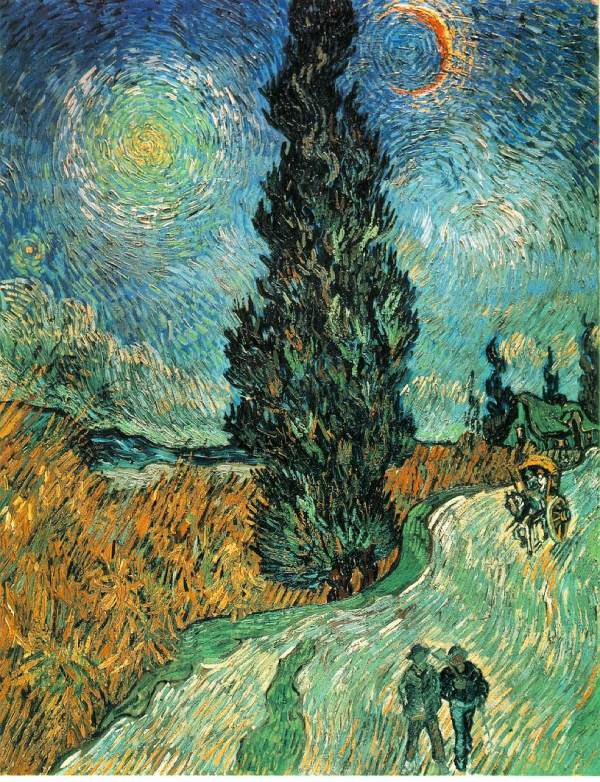 Webmuseum Gogh Vincent Van Fields And Cypresses