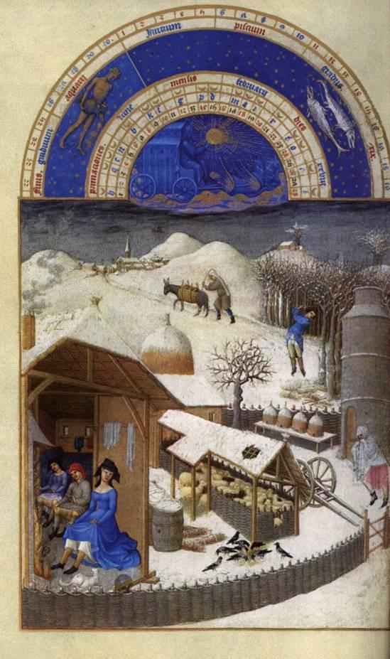 Febraury - Les très riches heures du Duc de Berry