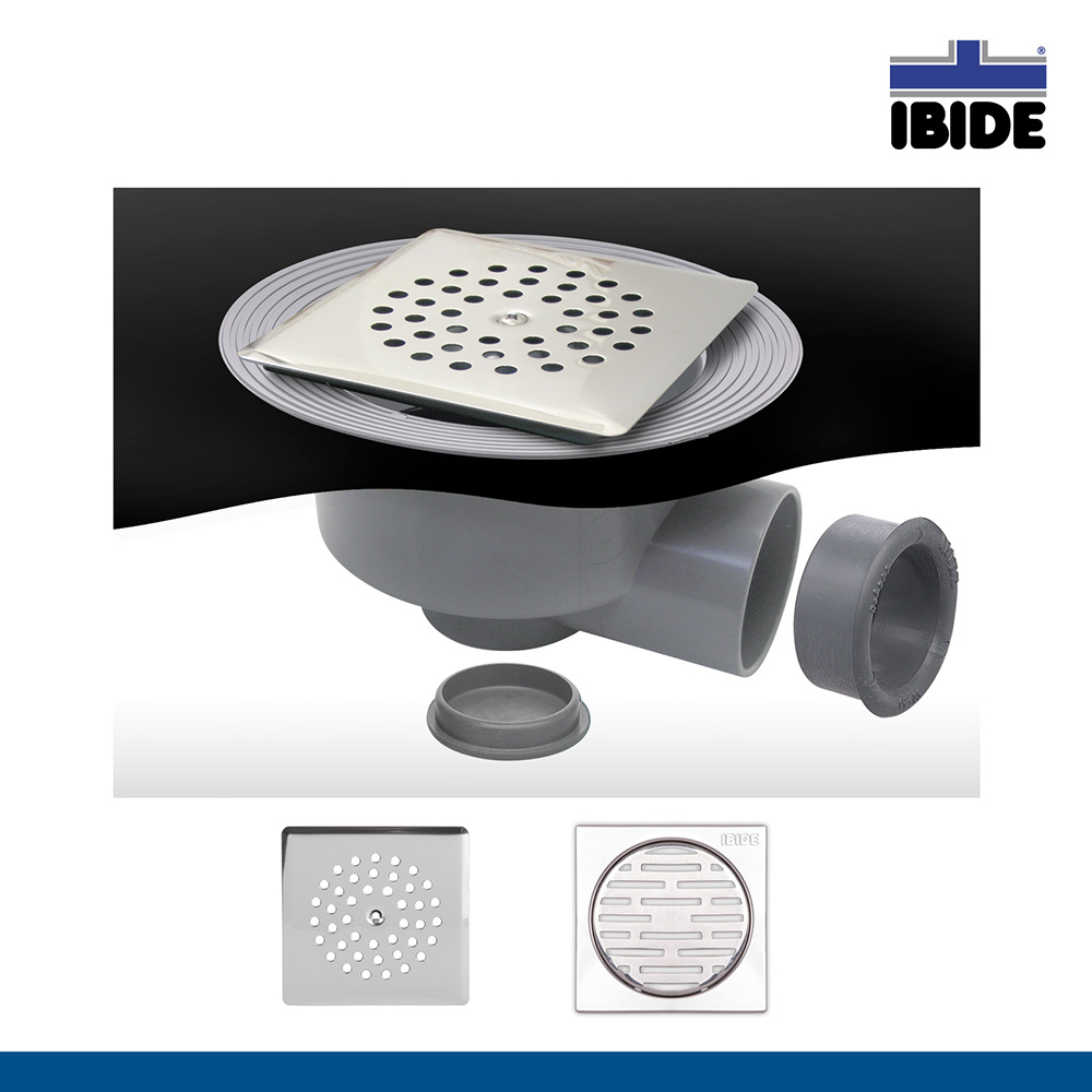 Caldereta sifnica para platos de ducha de obra con