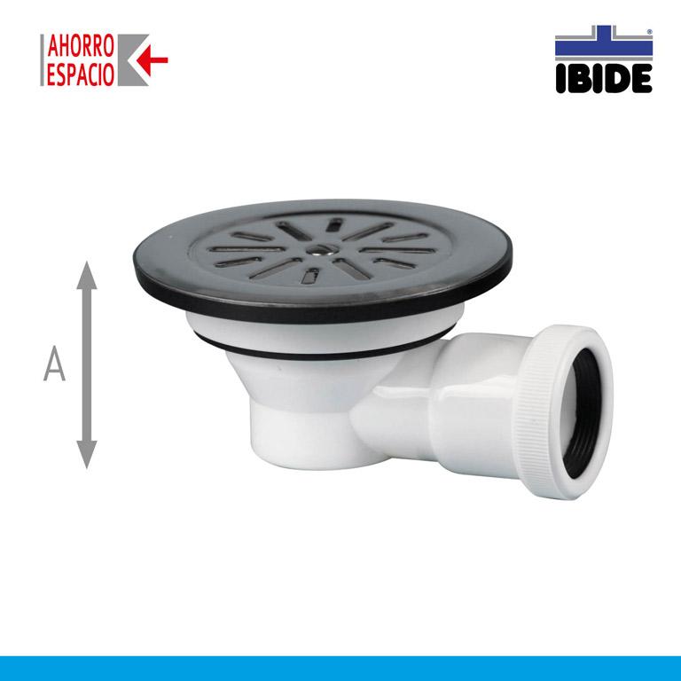 Vlvula ducha con plato inoxidable para agujero de 60 mm