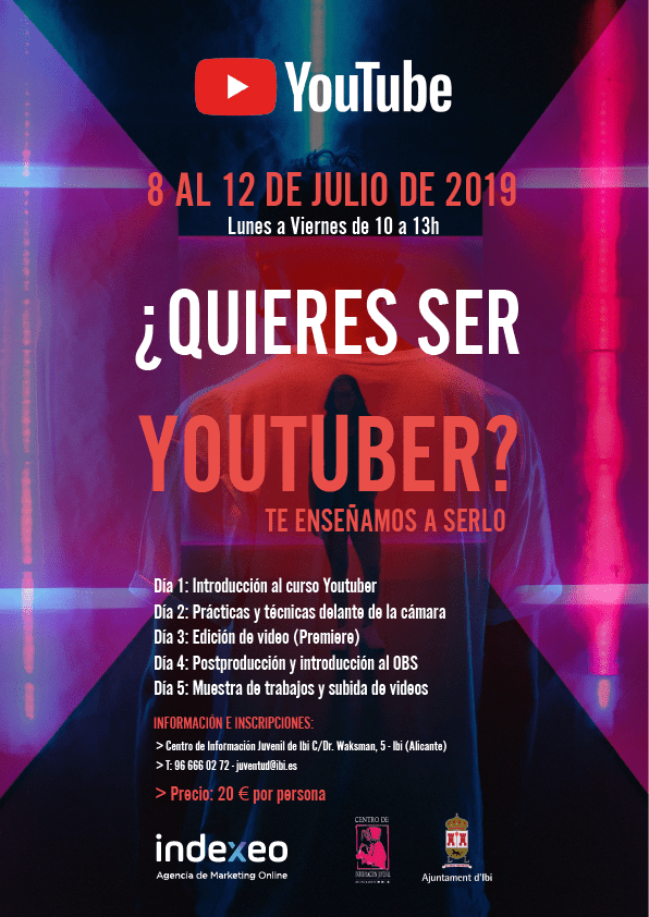 CARTEL CURSO YOUTUBER WEB