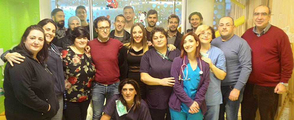 """Calcio Catania in missione """"Babbo Natale"""" per i bimbi ricoverati al Policlinico"""