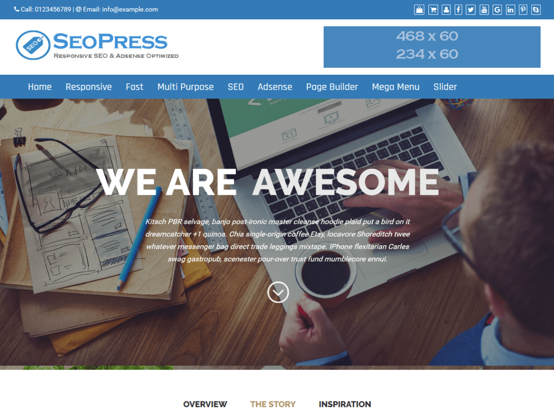 SEOPress - Fully SEO friendly WordPres Theme 3