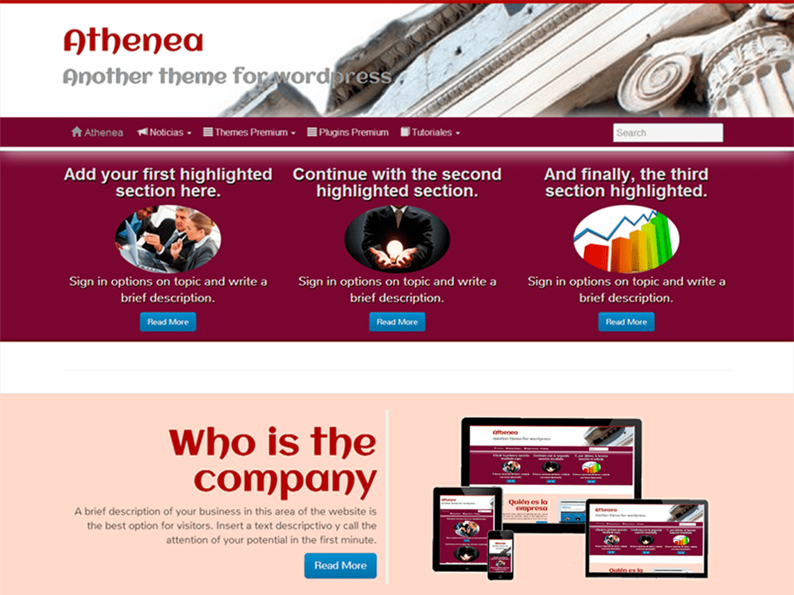Athenea – WordPress Theme for Business