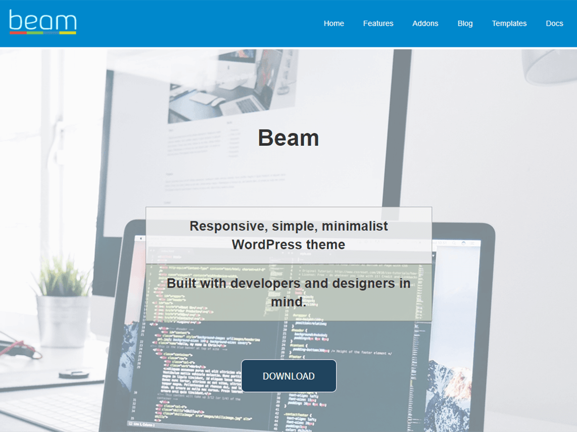 Beam – Responsive Customizable WordPress Theme