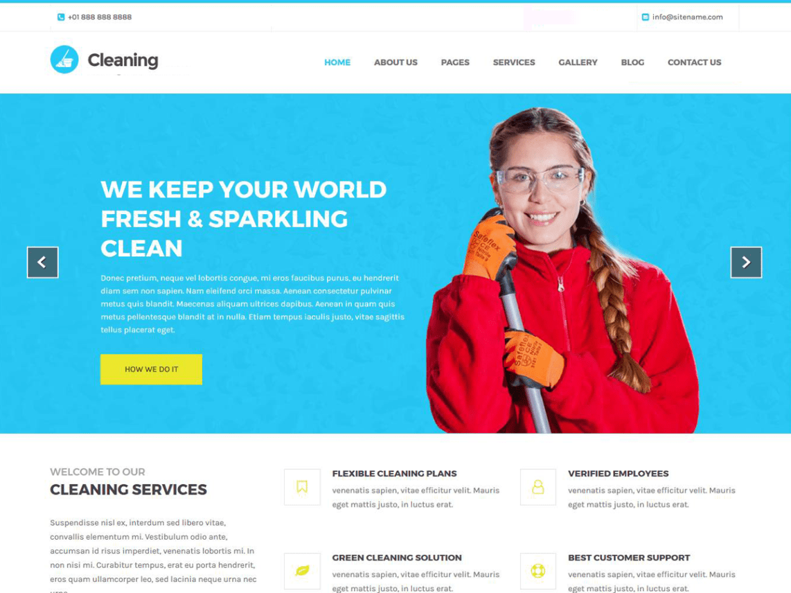 Cleaning Lite - WordPress Theme For The Cleaning Service