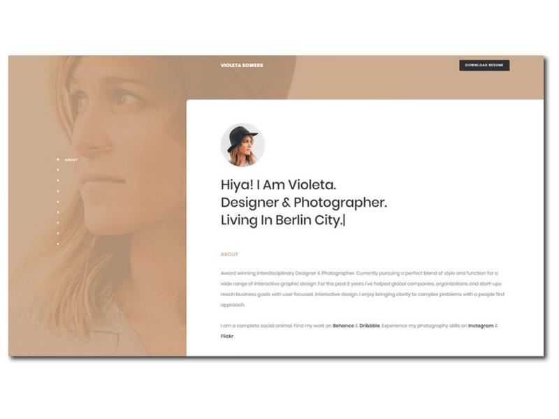 Responsive CV / Resume / Personal / Portfolio Template