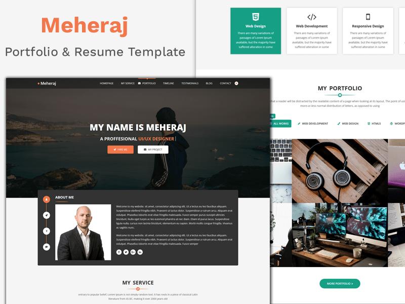 Meheraj - Creative Personal Portfolio Template 6