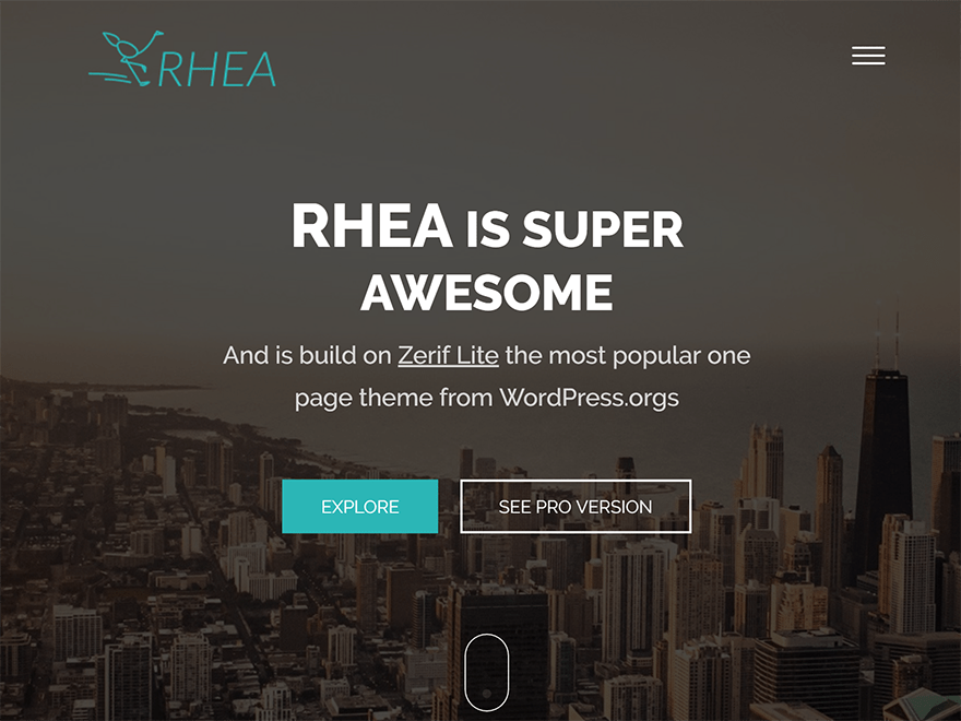 Rhea – WordPress theme For Web Agency Business