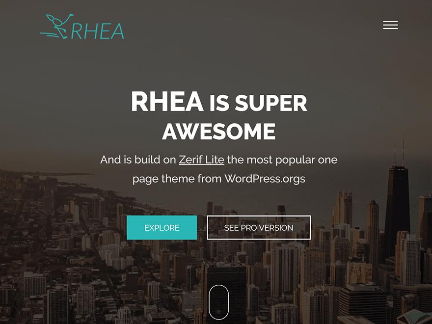 Rhea – WordPress theme For Web Agency Business