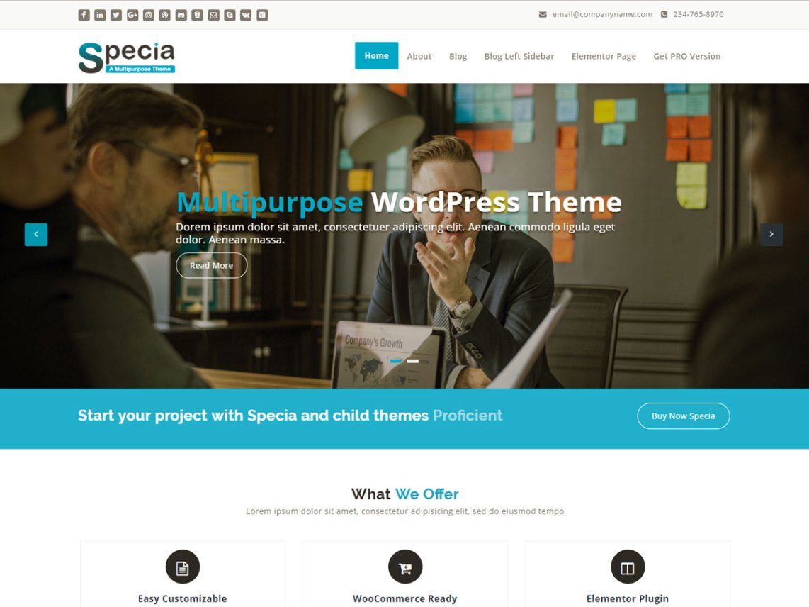 Specia – Trending WordPress Theme