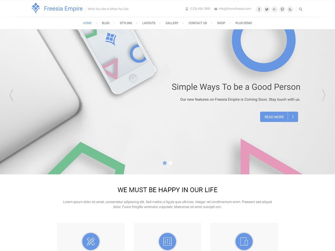 Freesia Empire - Multi-Purpose Freesia WordPress Theme