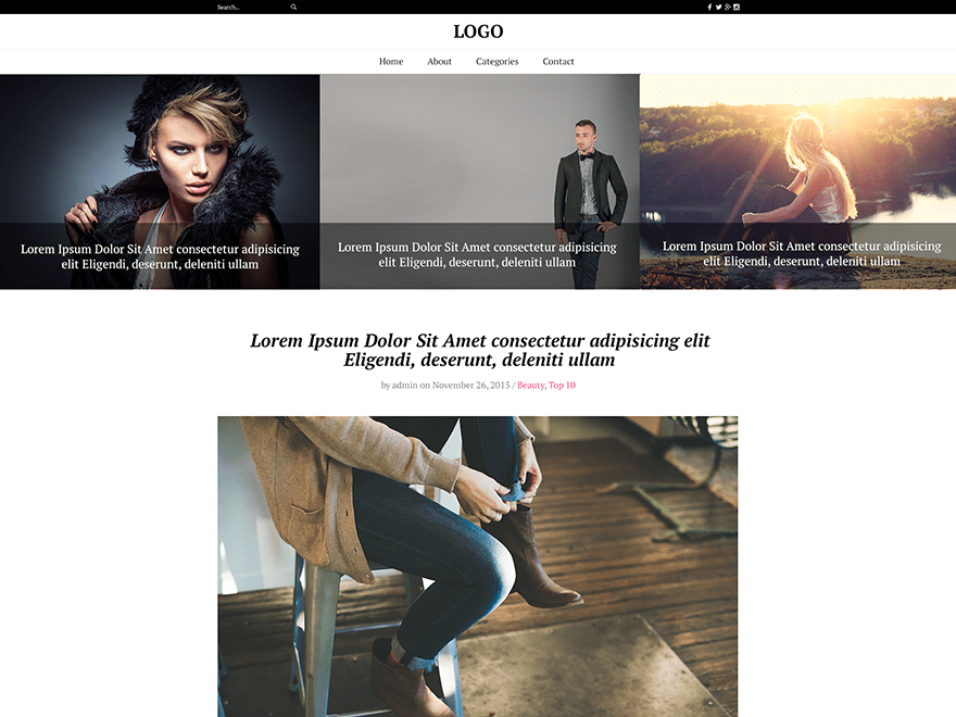 The Fash Blog – WordPress Theme for Fashion