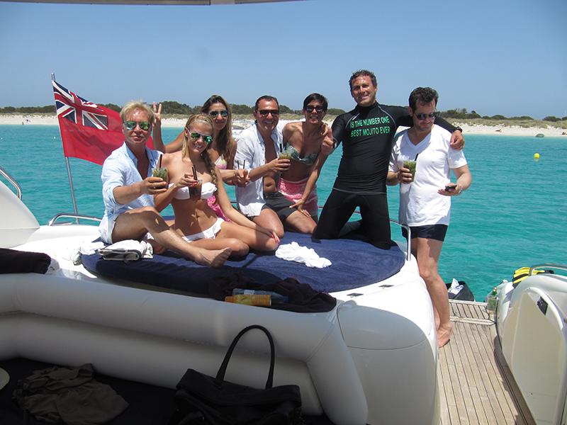 Ibiza boat hire Sunseeker predator 60 group
