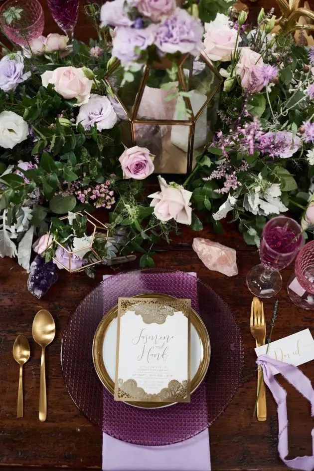 How to style a boho and lavender themed wedding