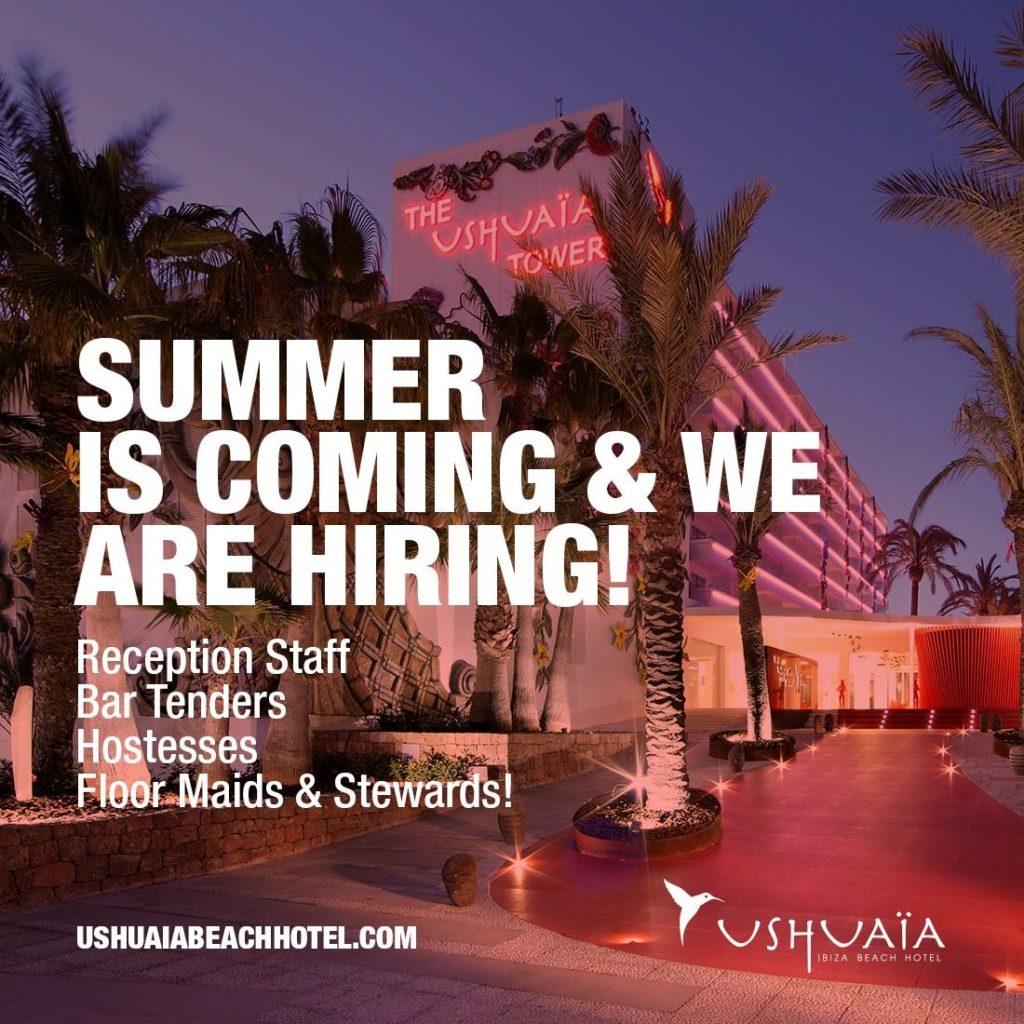 Job Opportunities At Ushuaa Ibiza For Summer