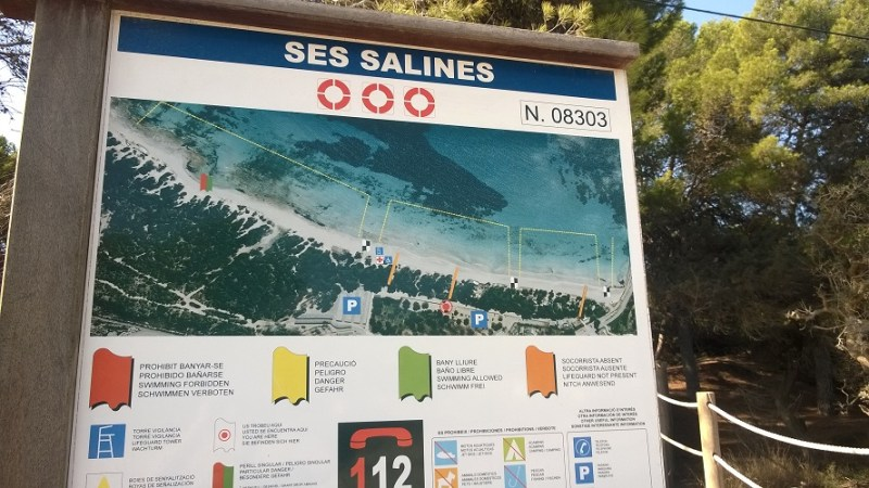 Ses Salines - Strand Bord