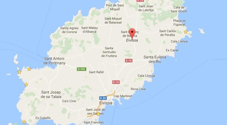 Ibiza kaart