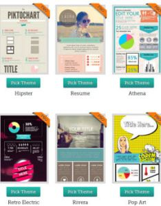 Piktochart infographic themes also create professional looking infographics the easy way rh iblogzone